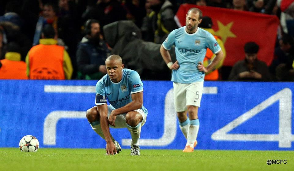 Down but not out - Vincent and Pablo can help prolong City's UCL campaign.Courtesy @MCFC