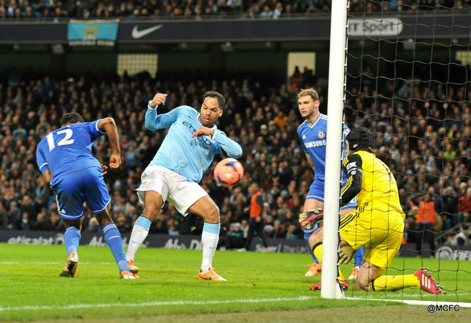 Lescott denied - Joleon thought he'd made it 3-0 but was ruled offside  Courtesy @MCFC