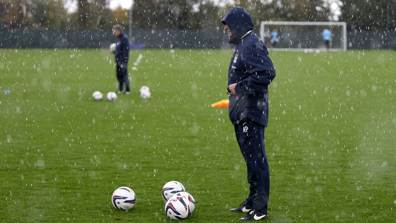 Weathering the storm - Manuel Pellegrini prepares his men for the next leg of the unlikely 'Quad'