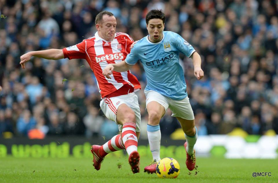 Long afternoon - Nasri and Co had to battle against the likes of Charlie Adams in a tough encounter  Courtesy @MCFC