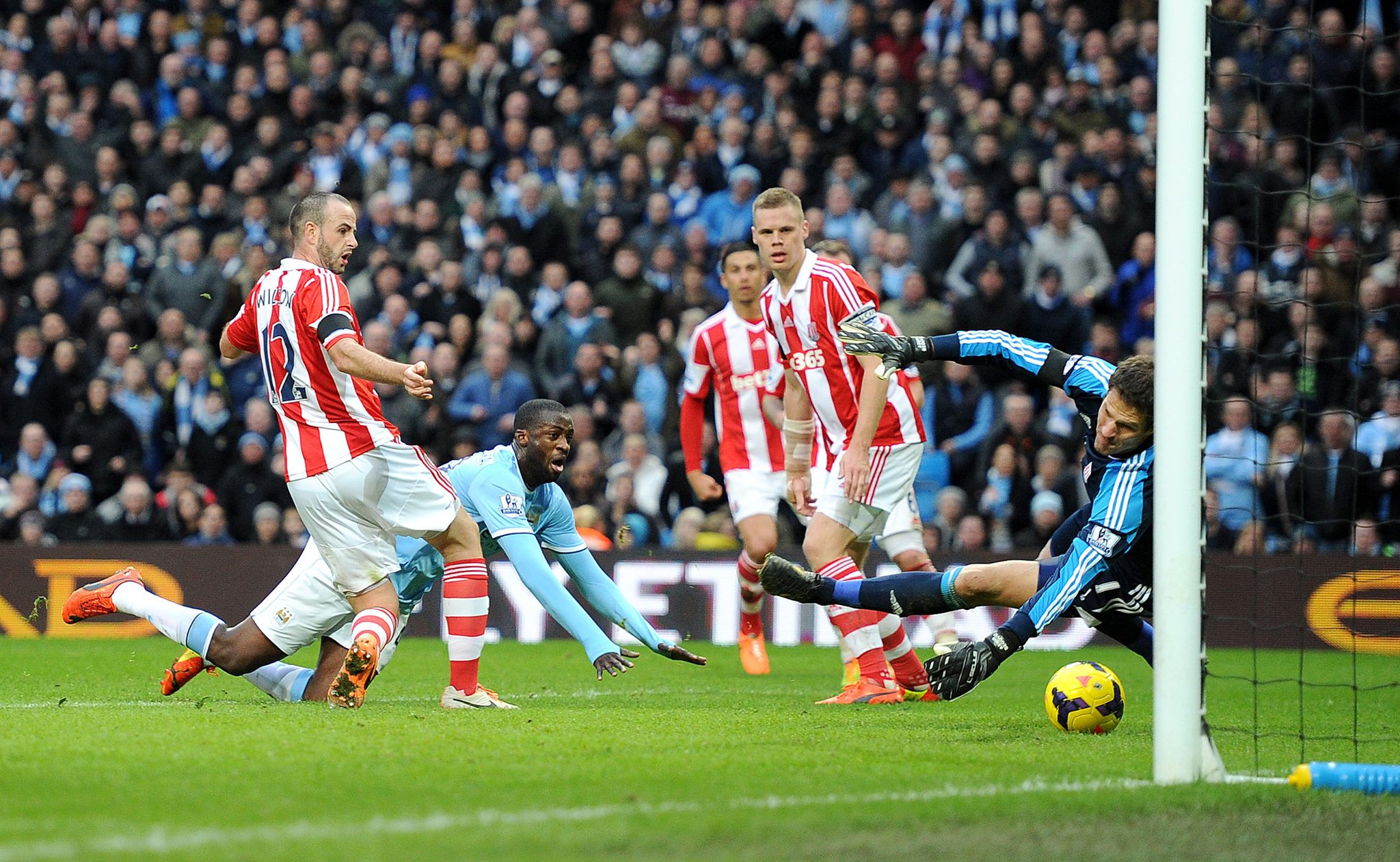 Blessed relief - Yaya broke the stalemate on 70 minutes  Courtesy @MCFC