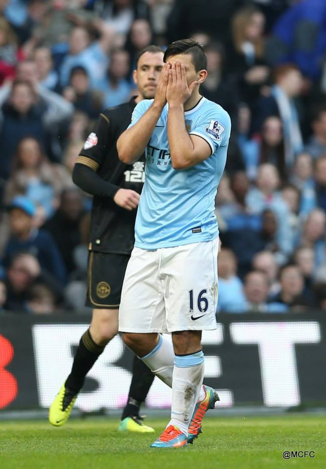 Picture paints a thousand words - anquisheD Aguero just could not score.  Courtesy @MCFC