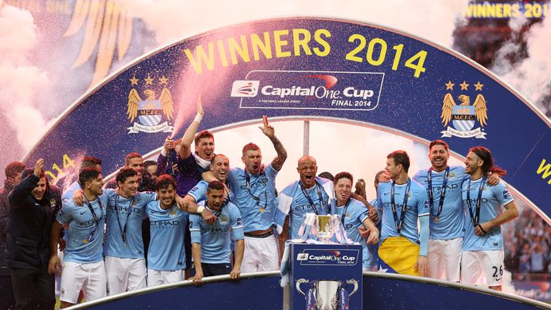 Silverware and mutual respect was the order of the day at the League Cup Final. Courtesy @MCFC