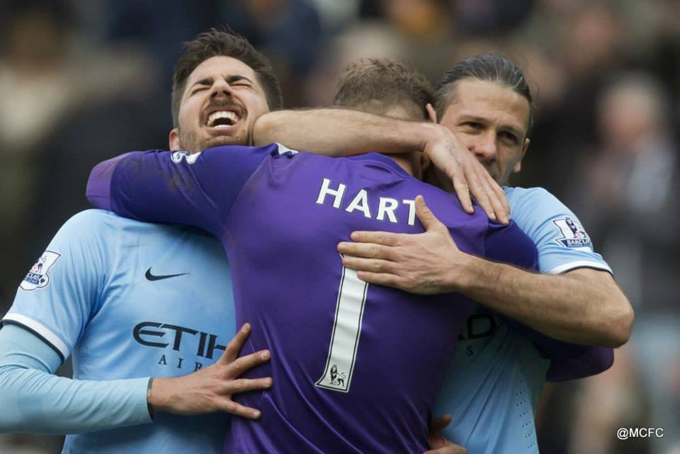 Towering Trio - Javi, Joe and Martin made sure City kept a clean sheet. Courtesy @MCFC