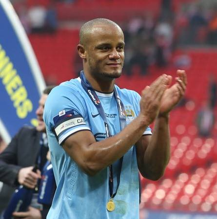 Good Kompany - Vincent overcame a tough first half to captain City to glory  Courtesy @MCFC