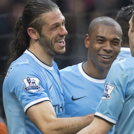 Zero to hero - Martin Demichelis is in fine form for City. Courtesy @MCFC