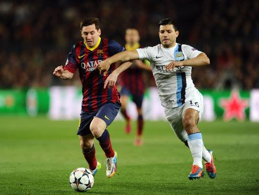 Absent Aguero - Sergio is still missing after his hamstring injury in Barcelona.  Courtesy @MCFC