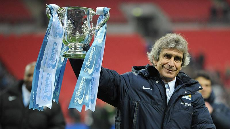 Winning 'Man-tality' - Manuel has first trophy in England now for the second, third... Courtesy @MCFC