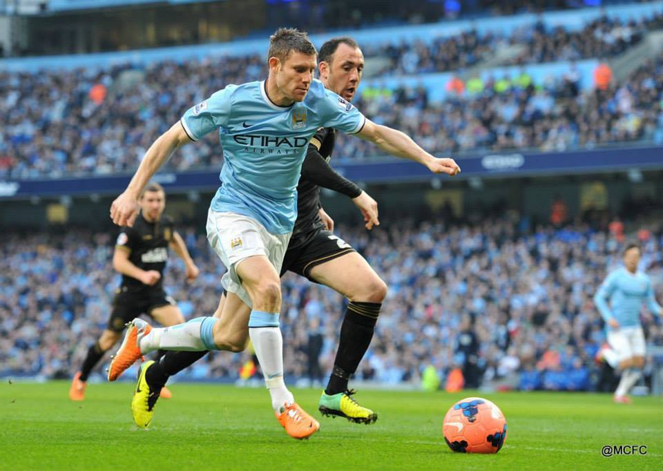 Milner soon helped City up their game, coming on as a second half substitute Courtesy @MCFC