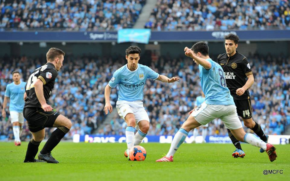 Wembley woe - Nasri and Navas won't be treading the 'hallowed turf' anytime too soon.  Courtesy @MCFC