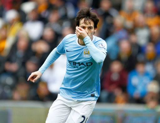 Silva service - sealed with a kiss David was sublime.  Courtesy @MCFC