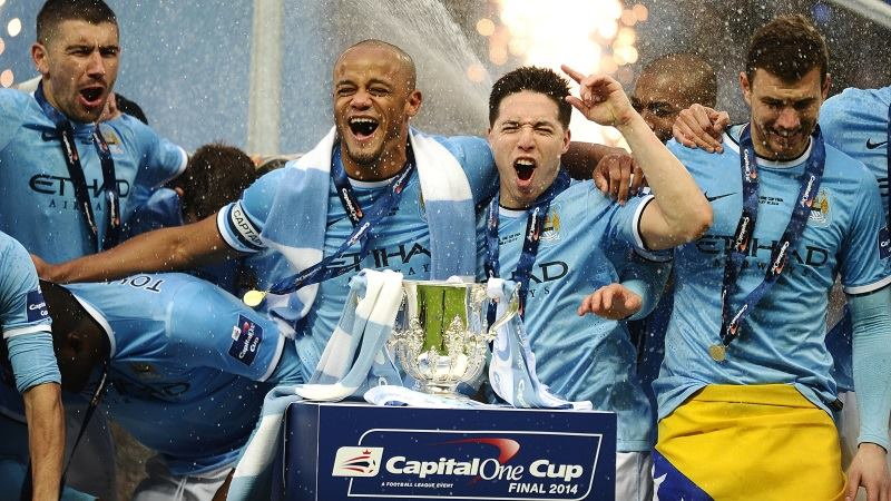 Fancy another 'cuppa' - City want another trophy in the shape of the Premier League title this season.Courtesy @MCFC