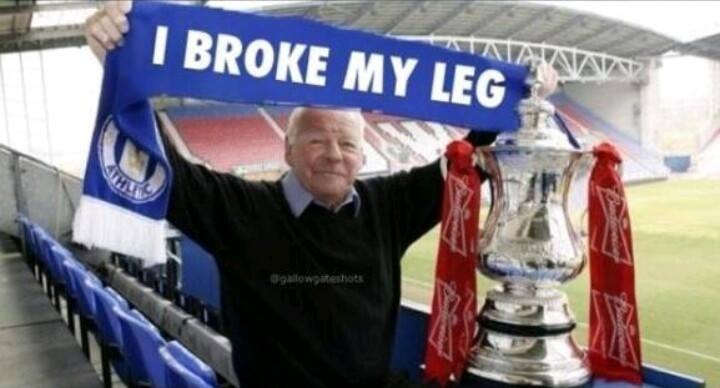Unfinished business - Wigan Chairman Dave Whelan broke his leg at the old Wembley playing for Blackburn in the 1960 FA Cup Final against Wolves - he doesn't like to talk about it...