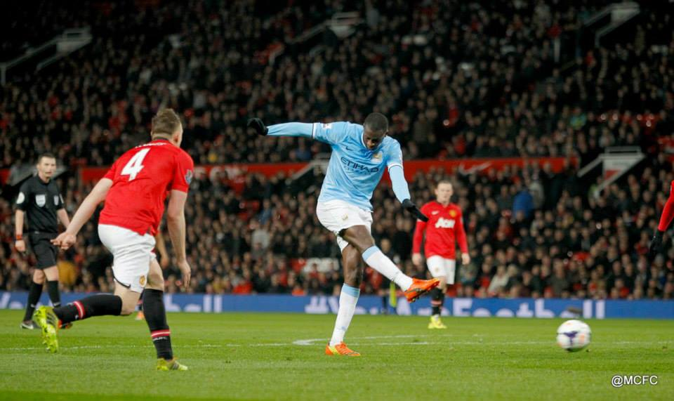 21st Celebration - Yaya hits his 21st goal of a magnificent season. Courtesy @MCFC