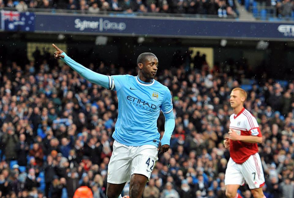 Top Gun - Can Yaya add to his 20-goal tally and make it double derby delight for City? Courtesy @MCFC