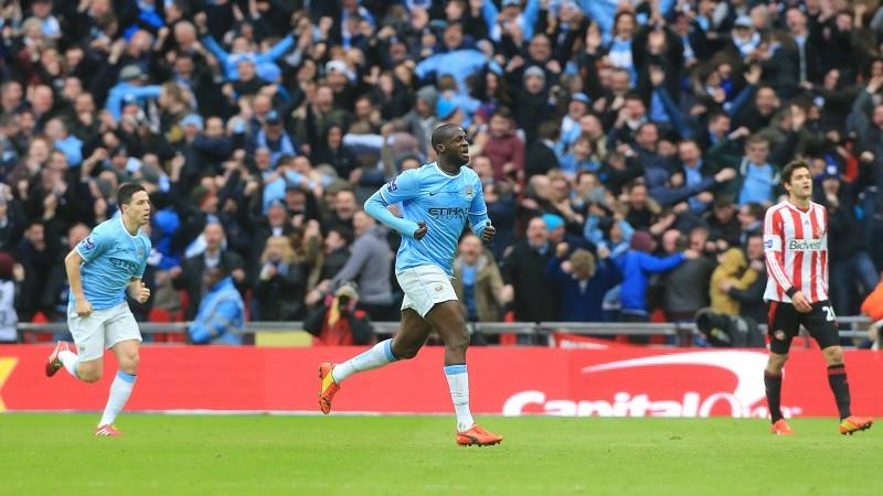 Best ever - Yaya turns to celebrate his greatest ever goal  Courtesy @MCFC