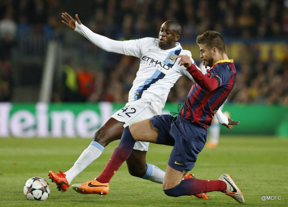 Barcelona bound - Yaya had hinted at a return to the Nou Camp - but that isn't happening. Courtesy @MCFC
