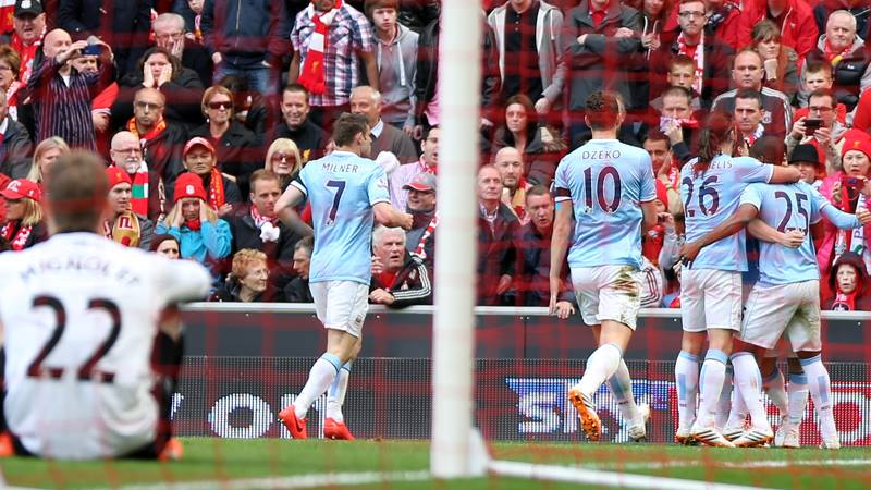 All square - City celebrate the equaliser but will they be celebrating on May 11? Courtesy @MCFC