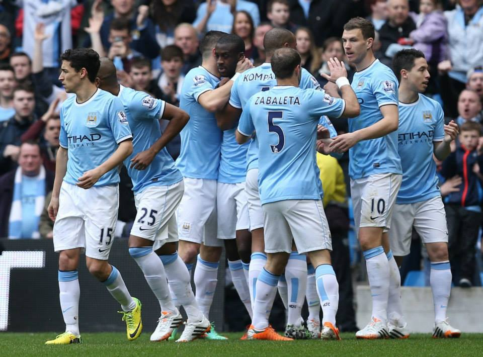 Win number 22 - City beat Southampton 4-1 at the Etihad. Courtesy @MCFC