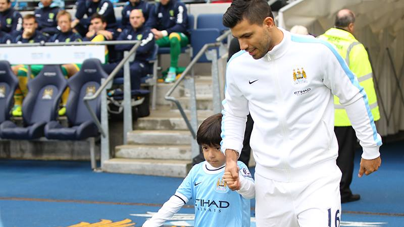 Making an entrance - Sergio's return to the Etihad will be a welcome sight. Courtesy @MCFC