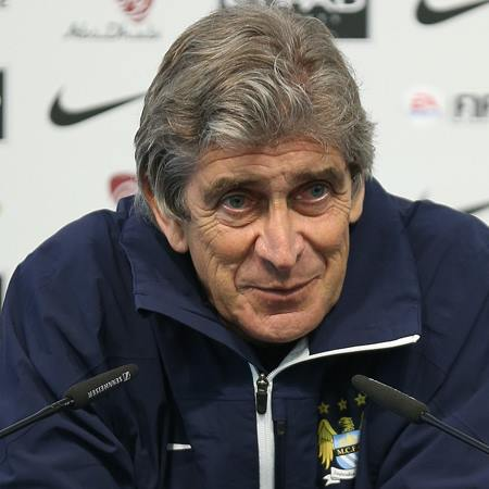 Upbeat - Manuel Pellegrini hopes to be smiling next Sunday night. Courtesy @MCFC
