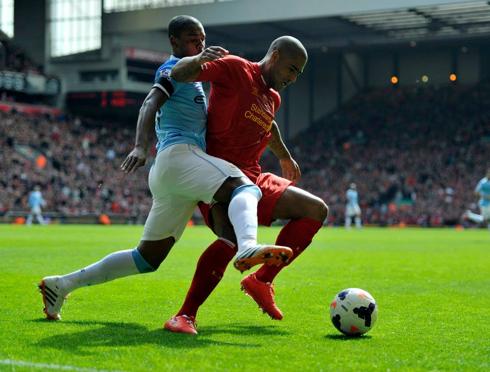 Fight 'Till the End - Fernandinho typified City's battling qualities. Courtesy @MCFC