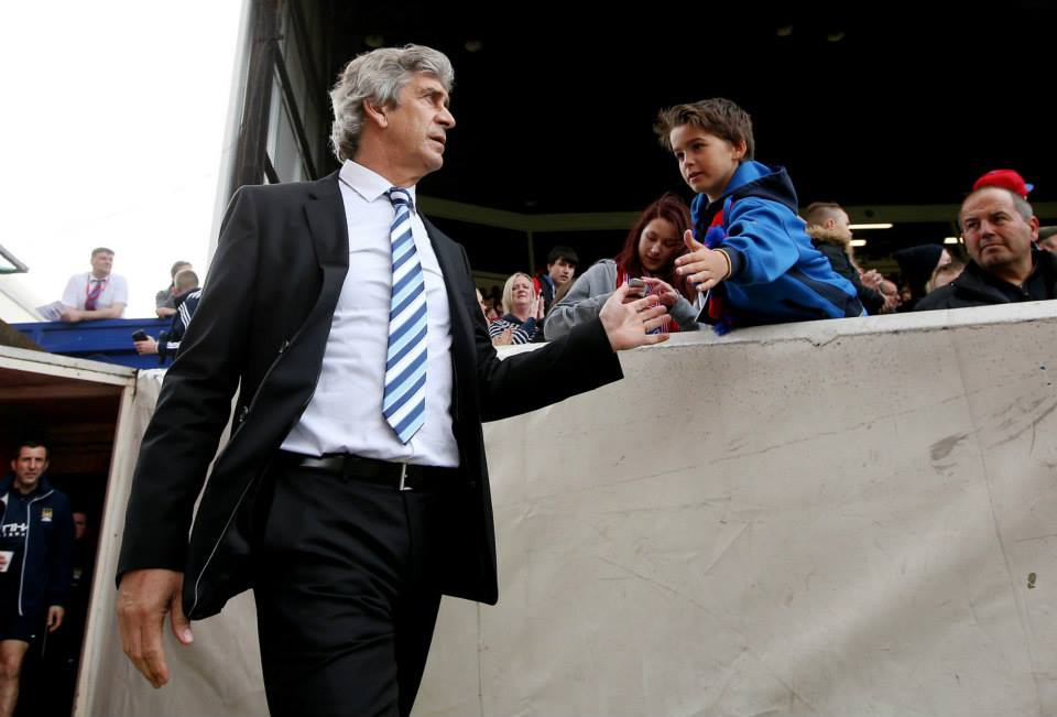 Stepping out - Manuel Pellegrini is suddenly back in the spotlight with City poised to take over at the top of the table. Courtesy @MCFC