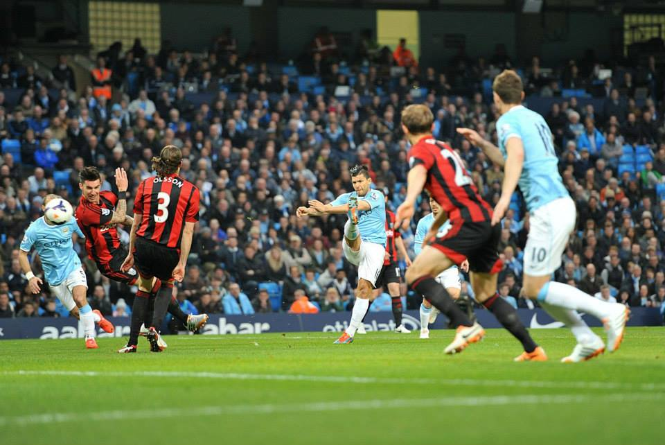 'Sergical' strike - Aguero rediscovered his scoring boots. Courtesy @MCFC