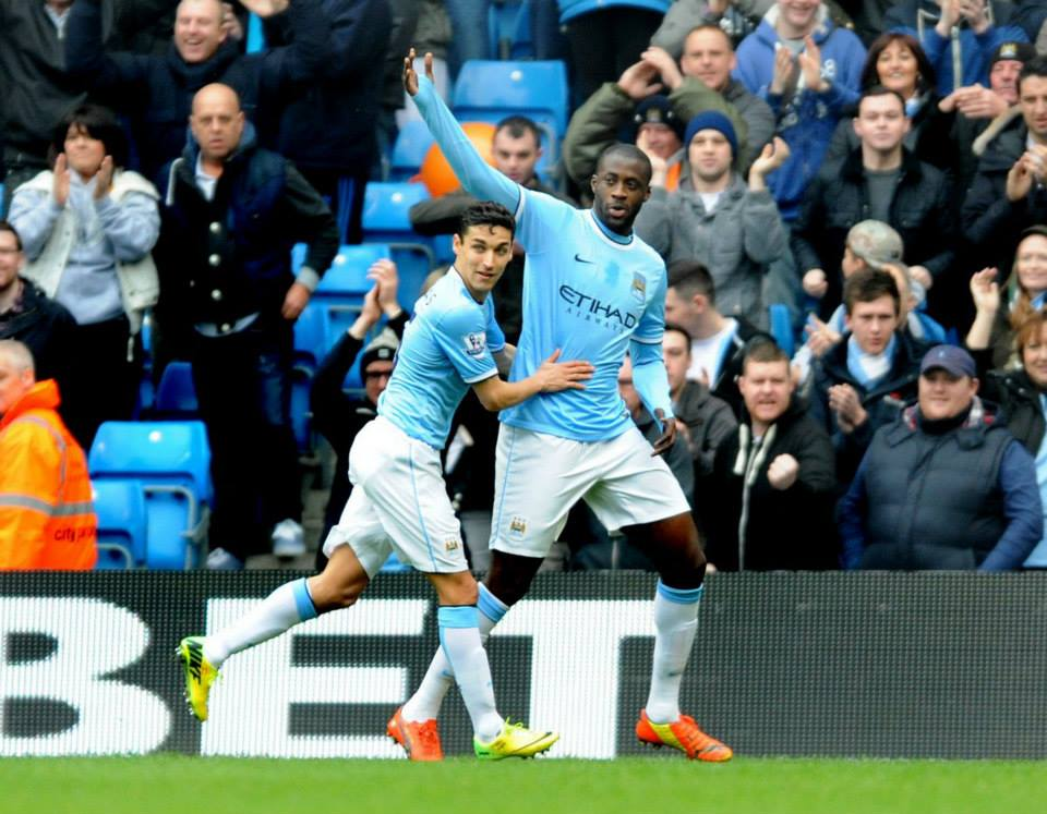 Don't stop me now - Yaya just can't stop scoring - 18 in the PL and 22 in total. Courtesy @MCFC