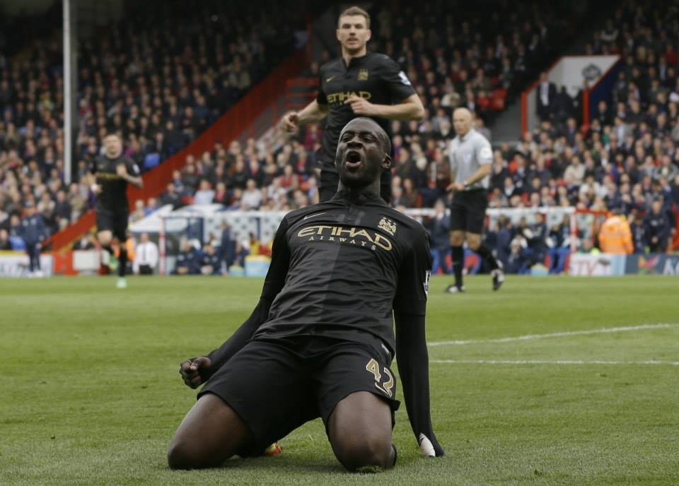 You're unbelievable - Yaya became only the 2nd ever midfielder to notch 20 PL goals in a single season. Courtesy @MCFC