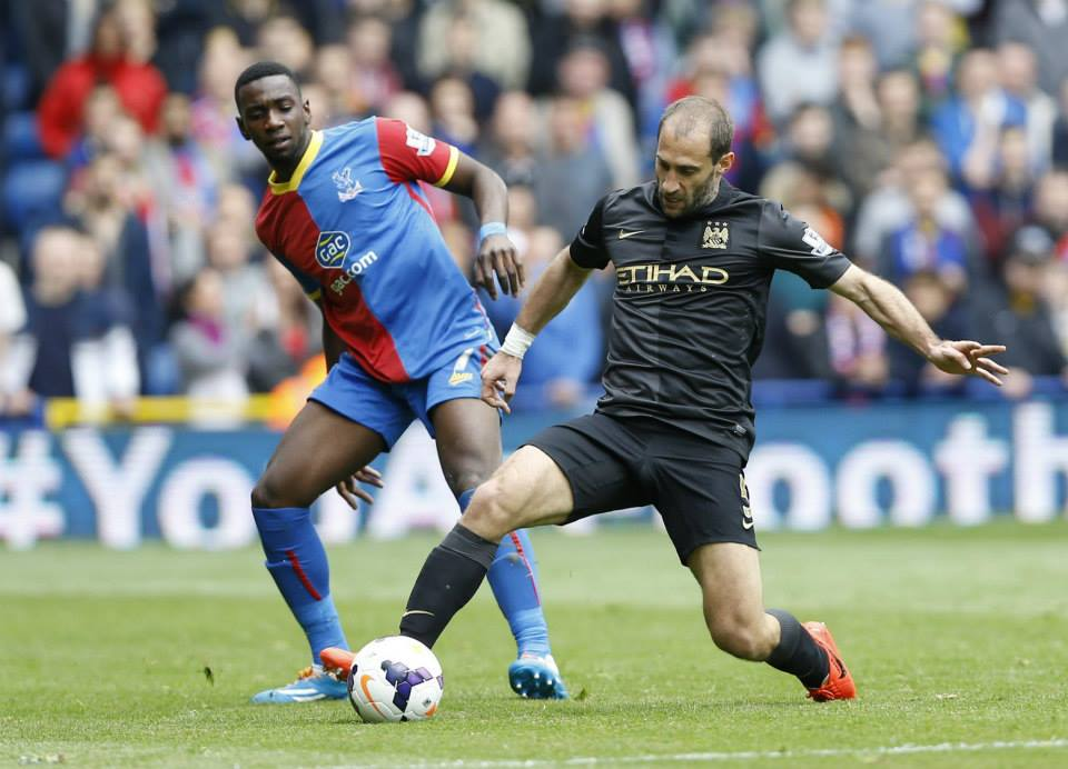 Fight 'till the end - Zaba issued his rallying cry before City's win at Palace. Courtesy @MCFC