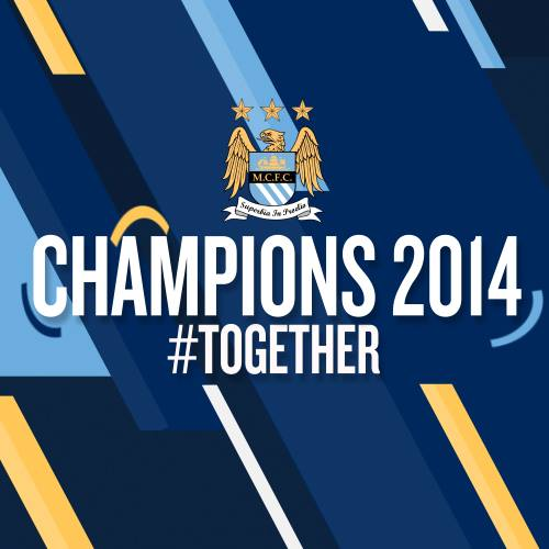 Just in case you missed it - MAN CITY CHAMPIONS 2014 #TOGETHER. Courtesy @MCFC
