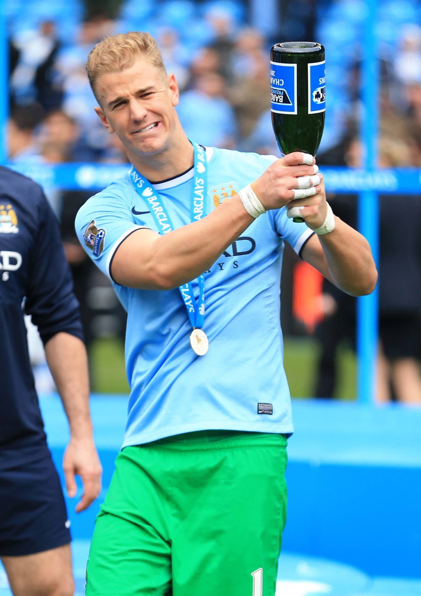 Get the celebrations swinging - Joe Hart had the bottle to come through a tough time. Courtesy @MCFC