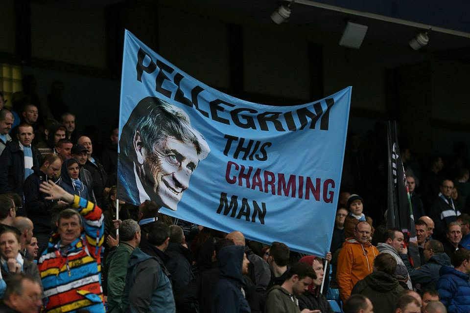 Says it all - Pellegrini is calm and assured and appreciated by the Etihad crowd. Courtesy @MCFC