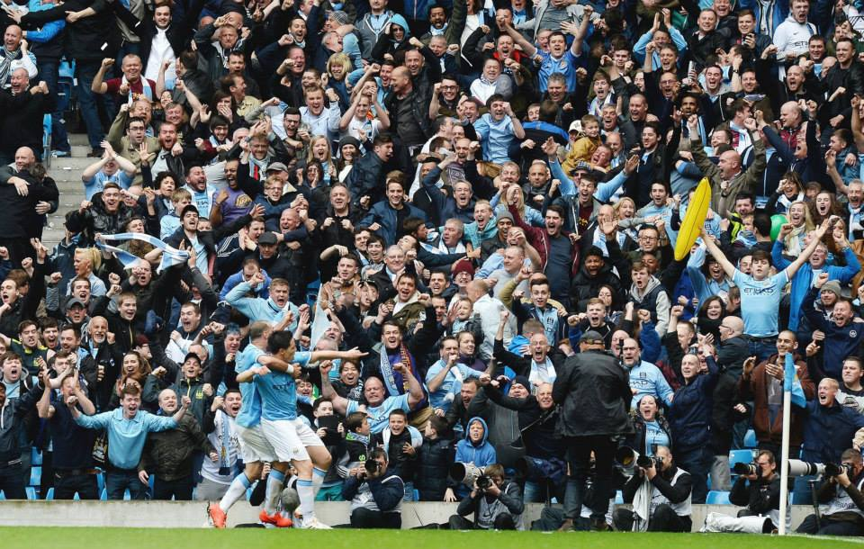Champion show - West Ham fans were magtnificent in May as they saw City beat their team to win the Premier League. Courtesy @MCFC