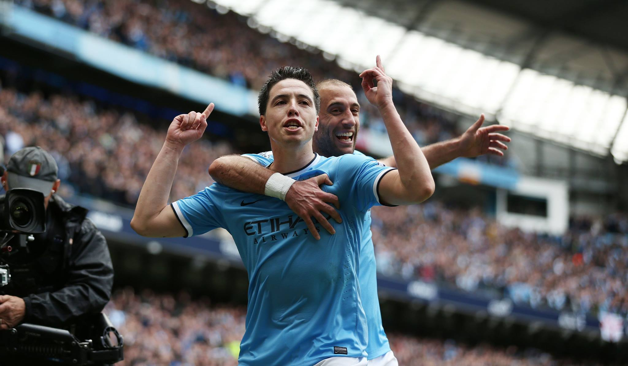 Champion feeling - Samir and Pablo are two time Premier League winners. Courtesy @MCFC