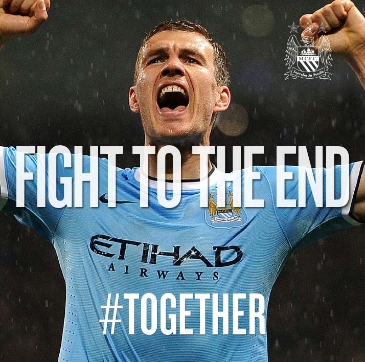 #TOGETHER -  FIGHT TO THE END - enough said! Courtesy @MCFC