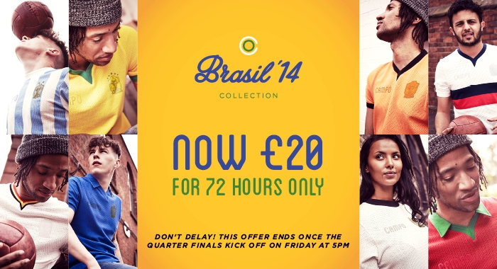 Classic World Cup shirts at classic prices - GRAB YOURSELF A BARGAIN BEFORE 5PM TONIGHT!