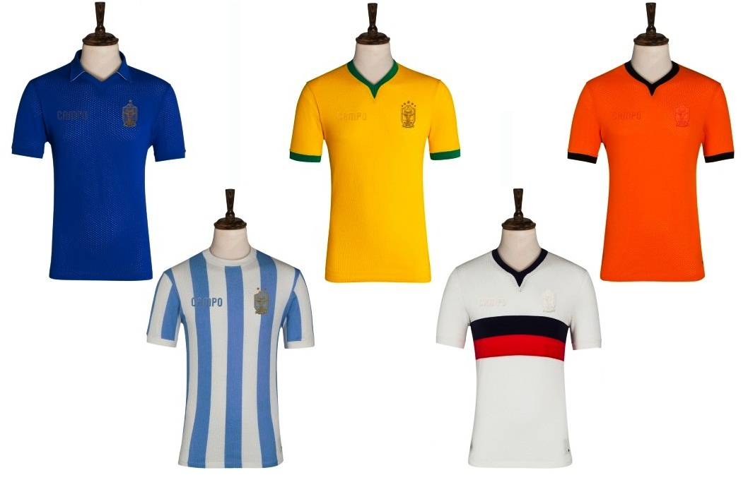 Classic World Cup shirts at good old fashioned prices - but only until 5pm today when the Quarter Finals get underway in Brazil.