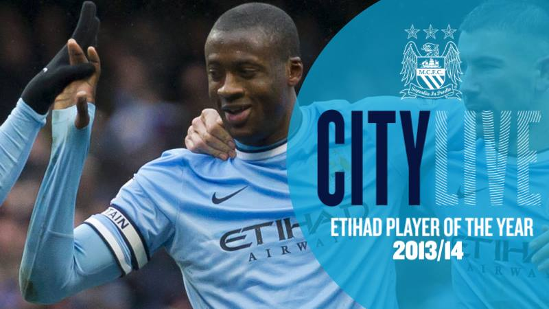 Player of the Season - Yaya's wonderful form in City's title win should see him acclaimed on August 14...or will the fans choose an alternative after a summer of Yaya discontent? Courtesy @MCFC