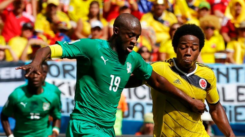 Early exit - Yaya and the Ivory Coast suffered a shock at the World Cup, not going beyond the group stage. Courtesy @MCFC