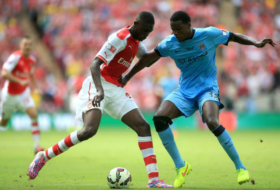 No defence - Dedryk Boyata and City were in generous mood with the Gunners. Courtesy @MCFC