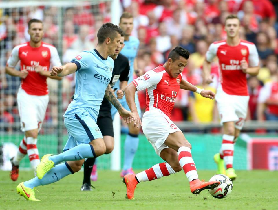 No joy - Jovetic & Co succumbed to Sanchez and the red hot Gooners. Courtesy @MCFC