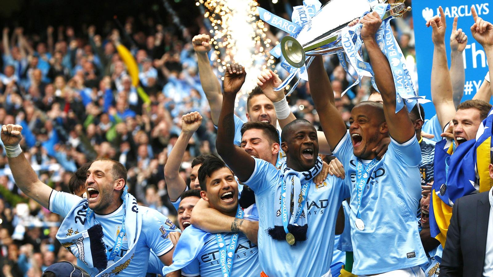 Great timing - City clinched the title on the last day of the season.