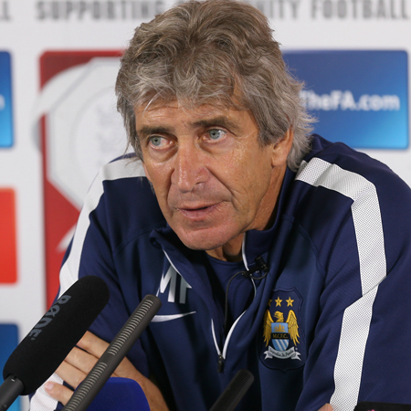 Engineering success - Manuel would like Wembley silverware. Courtesy @MCFC