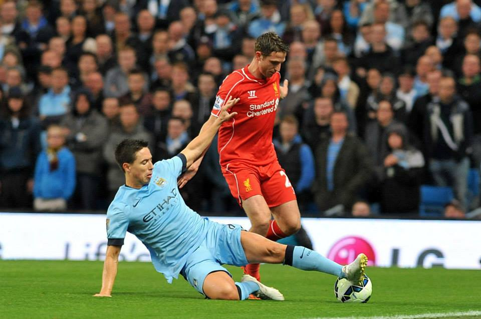 French Connection - Nasri was instrumental in putting City 2-0 up. Courtesy@MCFC