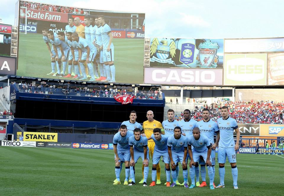 Much changed - City drew 2-2 with Liverpool on the USA pre-season tour before losing on penalties. It'll be a very different looking side on Monday night. Courtesy@MCFC