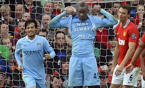 Super Mario - how City fans best remember Balotelli.
