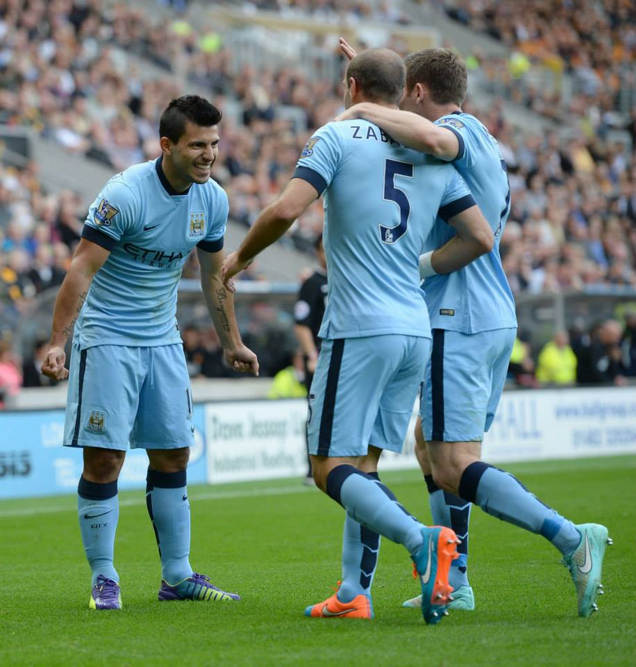 Off to a flyer - City raced into a two goal lead. Courtesy@MCFC