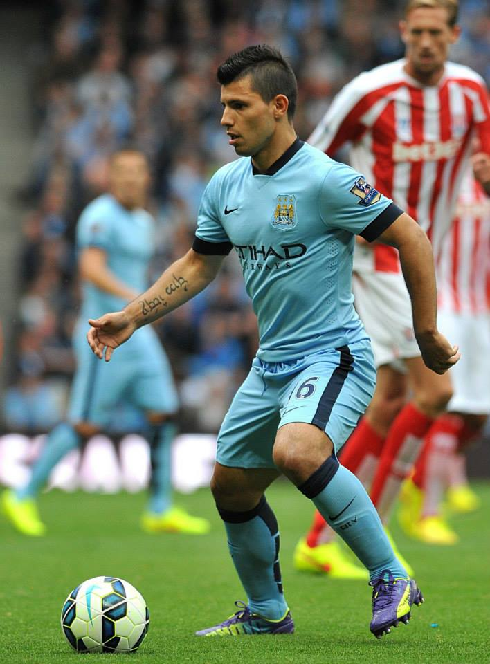 No go - Sergio's sensational scoring record came to a halt. Courtesy@MCFC